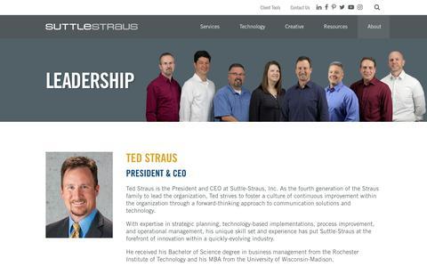 Screenshot of Team Page suttle-straus.com - Leadership - Suttle-Straus - captured Sept. 21, 2018