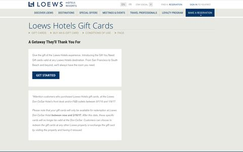 Hotel Gift Cards | Travel Gift Certificates | Loews Hotels