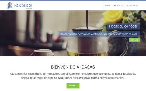 Screenshot of Blog icasas.mx - iCasas Blog: información y consejos sobre el sector inmobiliario - iCasas.mx - captured June 25, 2017
