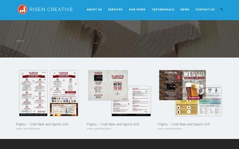 Screenshot of Menu Page risencreative.com - menu – Risen Creative - captured Feb. 23, 2016