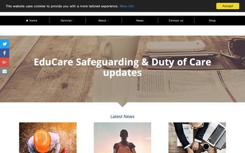 Screenshot of Press Page educare.co.uk - News & blogs | EduCare - captured Sept. 27, 2018