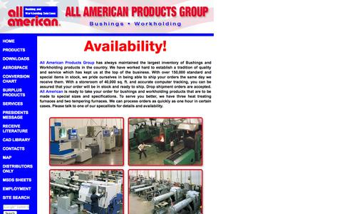 Screenshot of Services Page allamericanproducts.com - Drill Bushings, Workholding Solutions, Tooling Componants, Toggle Clamps - All American Products Group - captured Sept. 30, 2014