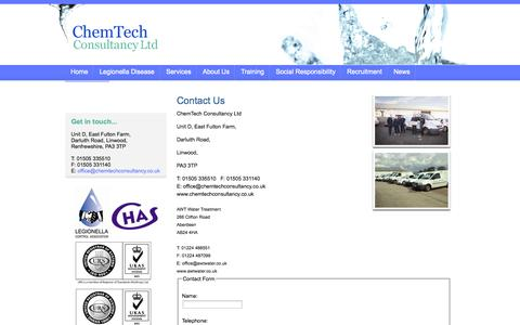 Screenshot of Contact Page chemtechconsultancy.co.uk - ChemTech Consultancy Ltd - Contact Us - captured Oct. 2, 2014