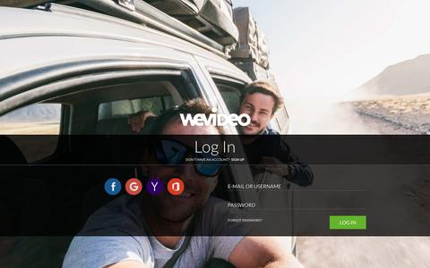Screenshot of Login Page wevideo.com - Login - WeVideo - captured Oct. 25, 2015
