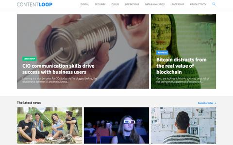 Screenshot of Home Page content-loop.com - Content Loop   The only continuous source of technology and business news - captured Aug. 28, 2016