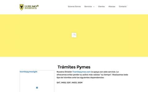 Screenshot of Home Page contadoresluelmo.com.mx captured June 17, 2015