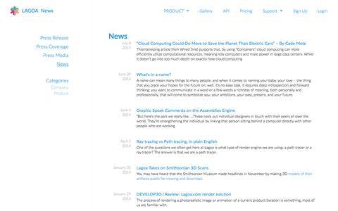 Screenshot of Press Page lagoa.com - NEWS   LAGOA - captured June 16, 2015