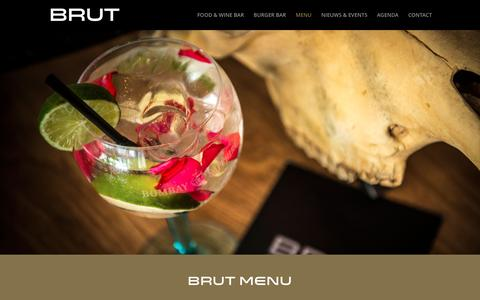 Screenshot of Menu Page ditisbrut.nl - Menu - Wijnen, Lunch, Petit Diner en Burgers van BRUT - captured Feb. 7, 2016