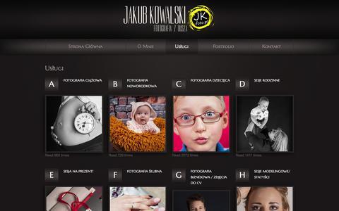 Screenshot of Services Page jk-foto.pl - jk-foto - Twój fotograf :) - captured Feb. 11, 2016