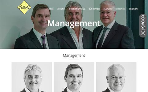 Screenshot of Team Page liberty-int.com - Management - captured Aug. 2, 2017
