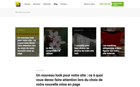 Screenshot of Blog pagesjaunes.fr - Blog - Sites PagesJaunes - captured March 21, 2018