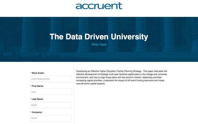 The Data Driven University