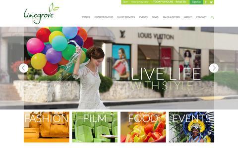 Screenshot of Home Page limegrove.com - Limegrove Lifestyle Centre, Barbados - captured Jan. 30, 2016