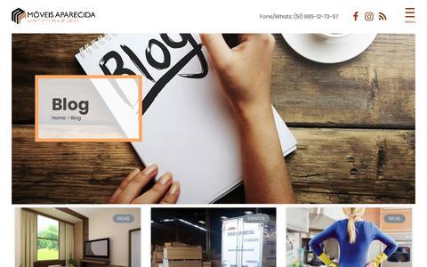 Screenshot of Blog moveisaparecida.com.br - Blog da Móveis Aparecida com artigos sobre decoração e móveis - captured Oct. 25, 2018