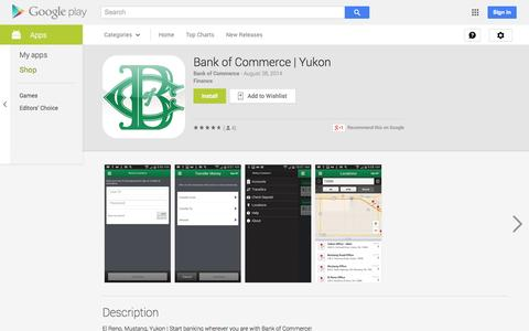 Screenshot of Android App Page google.com - Bank of Commerce | Yukon - Android Apps on Google Play - captured Nov. 3, 2014
