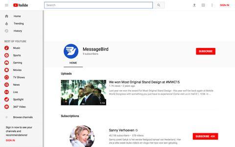MessageBird - YouTube