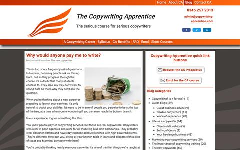 The Copywriting Apprentice blog Archives - The Copywriting Apprentice