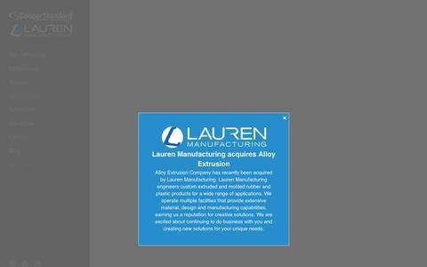 Screenshot of Case Studies Page lauren.com - Lauren Manufacturing - Success Stories - captured Sept. 27, 2018