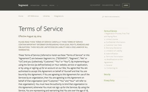 Terms of Service - Segment