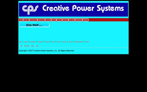 Screenshot of Site Map Page creativepowersystems.net - Creative Power Systems - captured July 23, 2018
