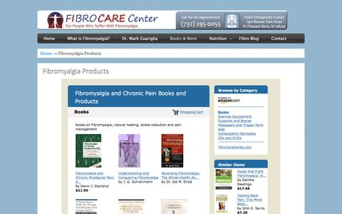 Screenshot of Products Page fibrocarecenter.com - Fibromyalgia Products - FibroCareCenter - captured April 17, 2016