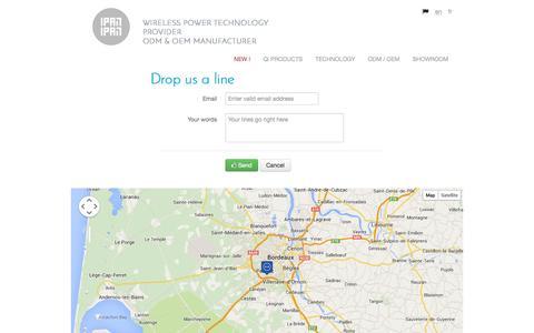 Screenshot of Contact Page ipanipan.com - IPAN IPAN - en - Drop us a line - captured Sept. 30, 2014