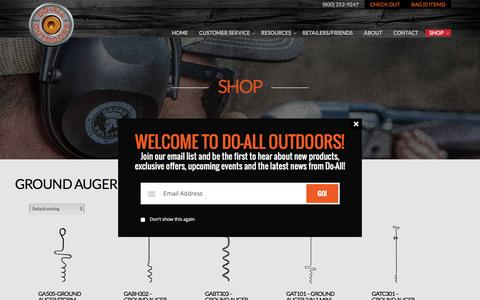 Product Categories  Ground Auger Hunting Solutions | Do All Outdoors