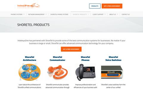 Screenshot of Products Page intelesysone.com - Best ShoreTel Products | IntelesysOne - captured June 7, 2017