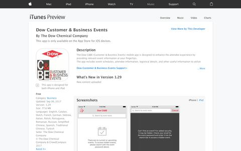 Dow Customer & Business Events on the App Store