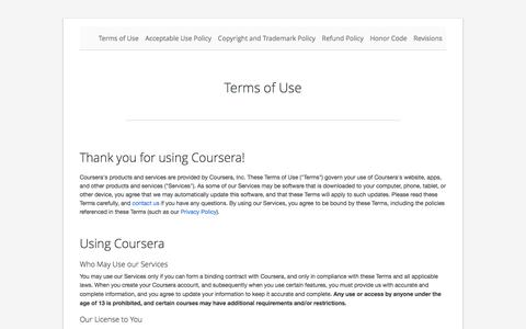 Terms of Use | Coursera