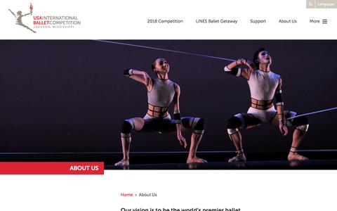 Screenshot of About Page usaibc.com - About Us - International Ballet Competition - captured Dec. 1, 2016