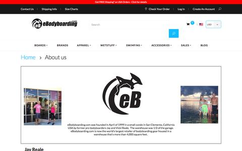 Screenshot of About Page ebodyboarding.com - About us - captured June 22, 2017