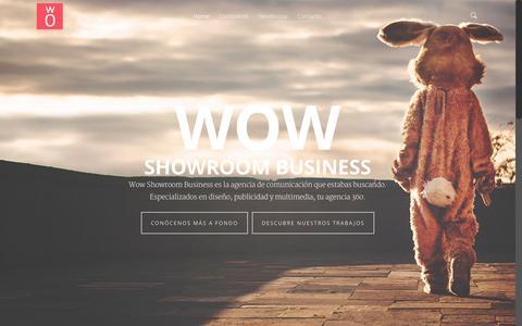 Screenshot of Home Page wowsrb.com - Wow Showroom Business agencia de comunicación - captured Aug. 16, 2015