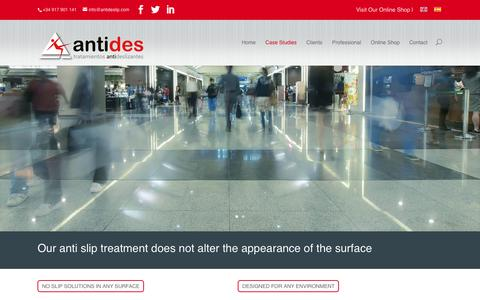 Screenshot of Case Studies Page antideslip.com - Case Studies | Antides | Tratamientos Antideslizantes - captured July 23, 2016