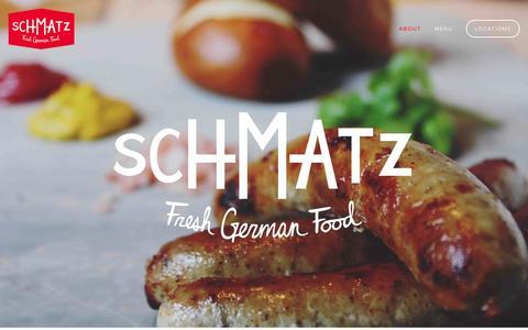 Screenshot of Home Page About Page schmatz.jp - Schmatz - captured Sept. 30, 2014