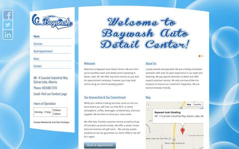 Screenshot of Home Page baywash.ca - Baywash Auto Detail Center - captured Oct. 5, 2014