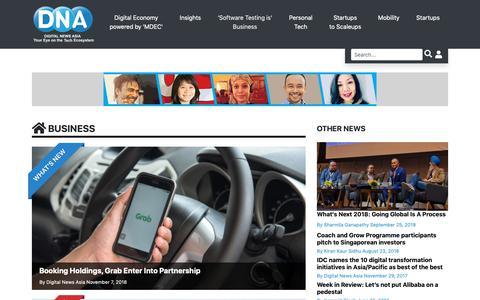 Screenshot of Press Page digitalnewsasia.com - Business | Digital News Asia - captured Nov. 6, 2018