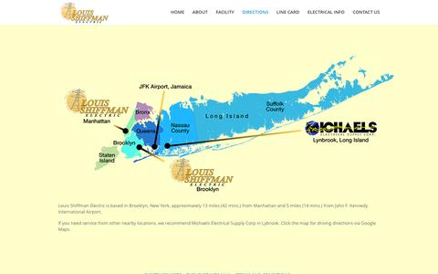 Screenshot of Maps & Directions Page loushiff.com - Directions | Louis Shiffman Electric - captured Jan. 31, 2016