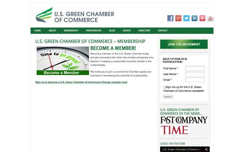 Screenshot of About Page usgreenchamber.com - U.S. Green Chamber of Commerce - Membership - captured Oct. 3, 2014