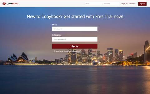 Screenshot of Signup Page copybook.com - Sign up - Copybook - captured Jan. 14, 2016