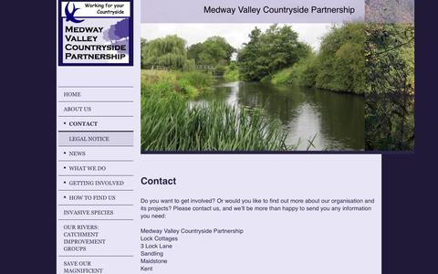 Screenshot of Contact Page medwayvalley.org - Medway Valley Countryside Partnership - Contact - captured Nov. 2, 2014