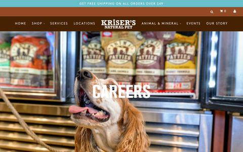Screenshot of Jobs Page krisers.com - Careers – Kriser's - captured Feb. 3, 2019