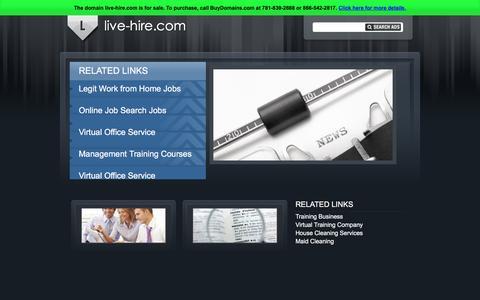 Screenshot of Home Page live-hire.com - live-hire.com - captured Dec. 11, 2015