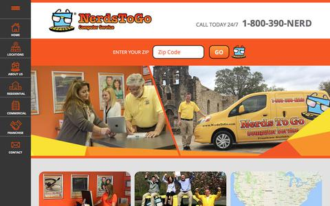 Screenshot of Home Page nerdstogo.com - Computer Repair Services & Solutions for Residential & Small Business - captured Sept. 20, 2018
