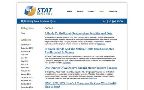 Screenshot of Press Page statrev.com - News | Stat Revenue - captured Oct. 3, 2014