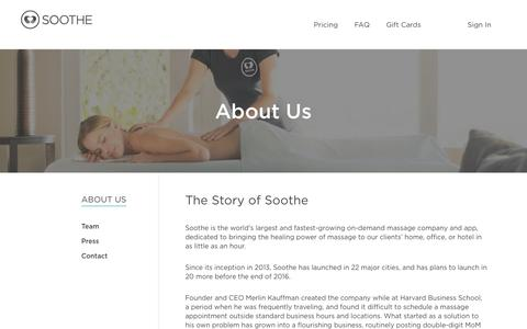 About | Soothe