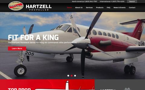 Screenshot of Home Page hartzellprop.com - Hartzell Propeller Inc. | Aircraft and Airplane Propeller Systems - captured Jan. 26, 2016