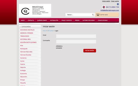 Screenshot of Login Page editorialcroquis.com - Editorial Croquis — Editorial Croquis - captured Oct. 2, 2014