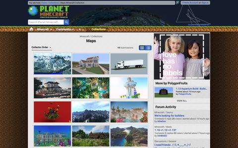 Screenshot of Maps & Directions Page planetminecraft.com - Maps Minecraft Collection - captured March 19, 2018