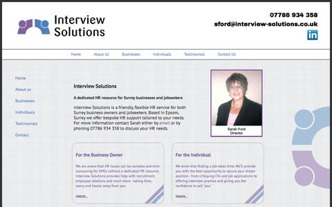 Screenshot of Home Page interview-solutions.co.uk - Interview Solutions - captured Jan. 9, 2016